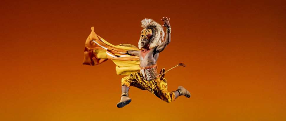 Dashaun Young (Simba) in Disney's The Lion King UK & Ireland tour
