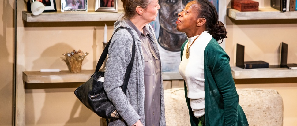Penny Layde and Judith Jacob in the UK tour of seeds