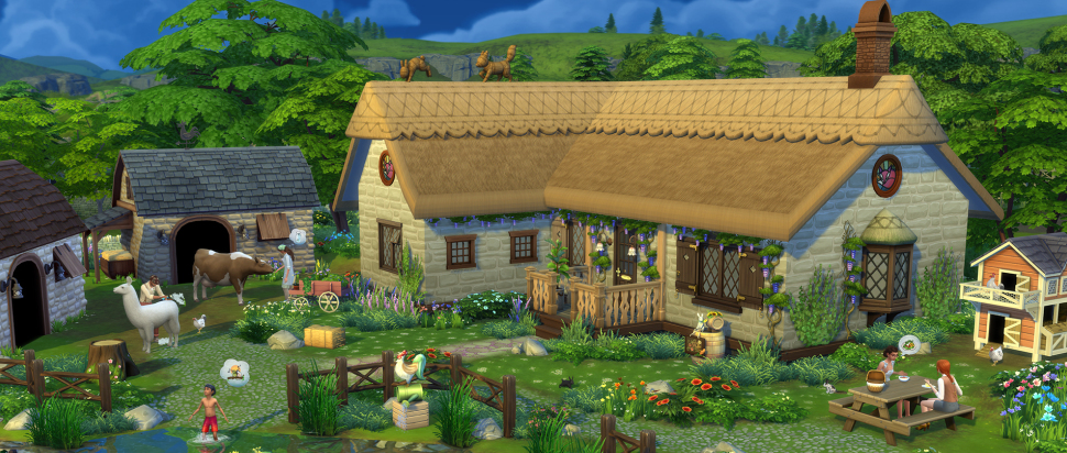 The Sims Cottage Living