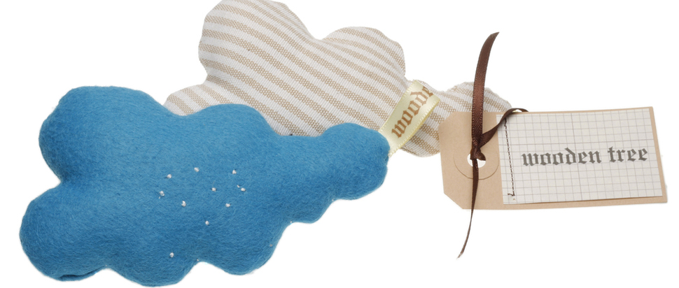 Cloud Pins by Wooden Tree £8.00
