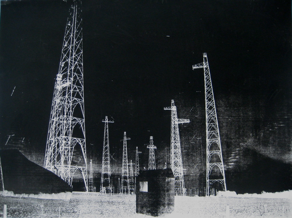 Monstrous Aerials, Screen Print 2010