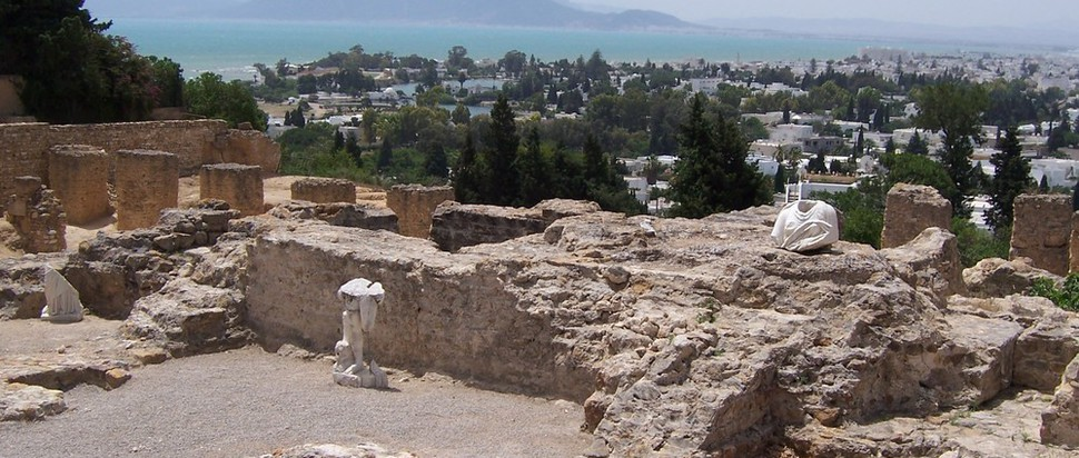 Ancient remains on the coast of Carthage