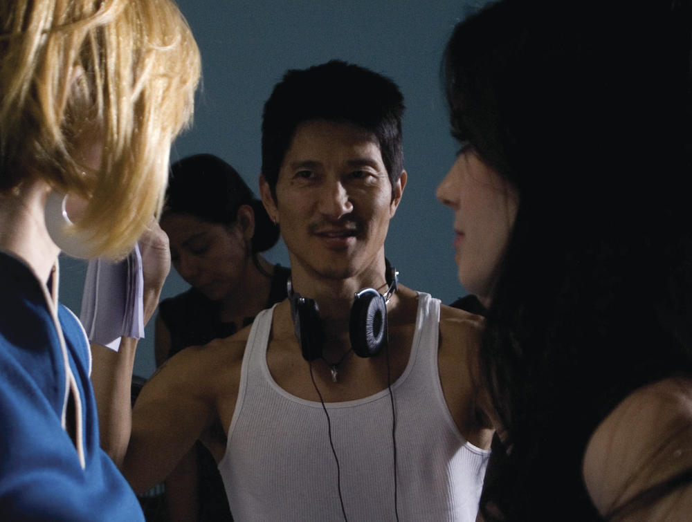 Gregg Araki on the set of Kaboom