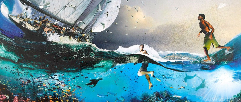 Walking on Water by David Mach