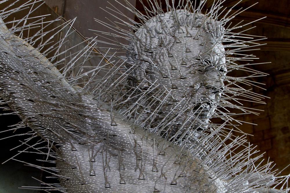 Die Harder by David Mach - detail of head