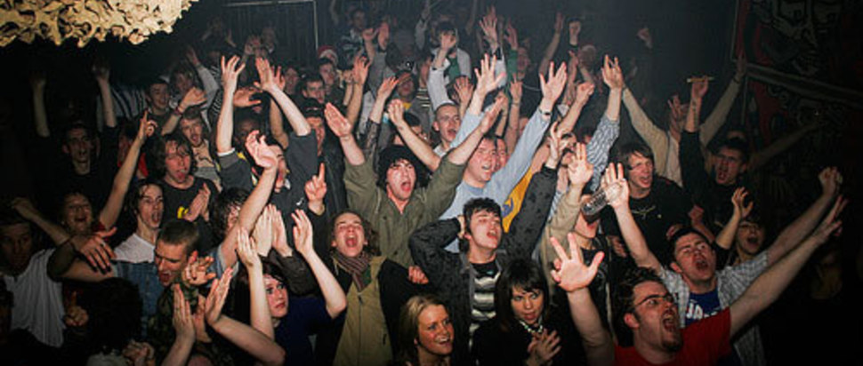 The crowds at Dundee's Pangea club night