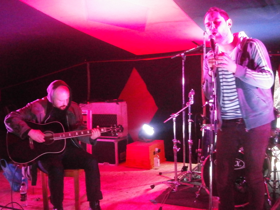 Andy and James from The Twilight Sad at Away Game 2012