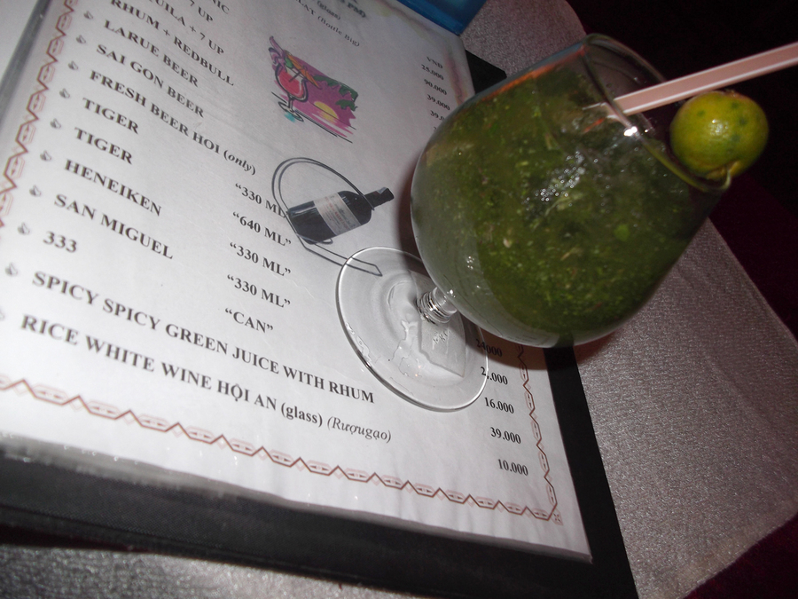 Spicy Spicy Green Juice with Rhum