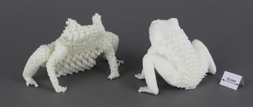 3D printed frogs