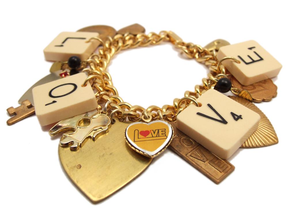 Scrabble Love Bracelet by T-Boo