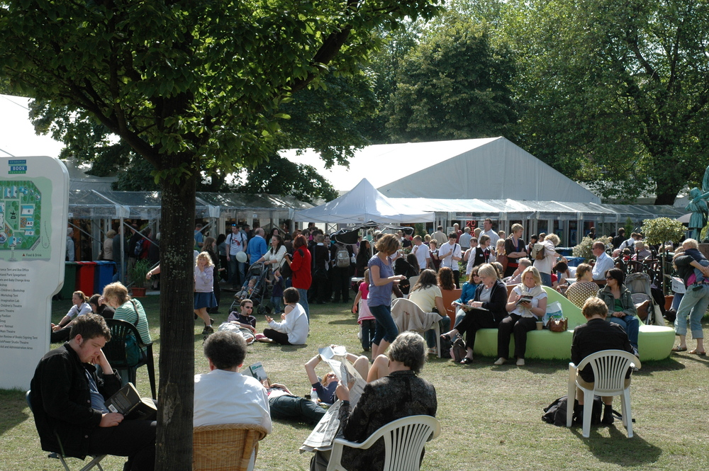 Crowds at the book festival
