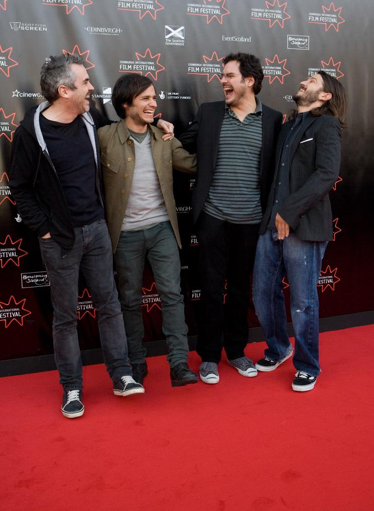 l-r_Alfonso Cuaron,Gael Garcia Bernal,Carlos Cuaron and Diego Luna - Rudi and Cursi