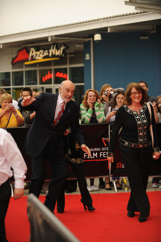 Sir Sean Connery on the Red Carpet at the opening of EIFF