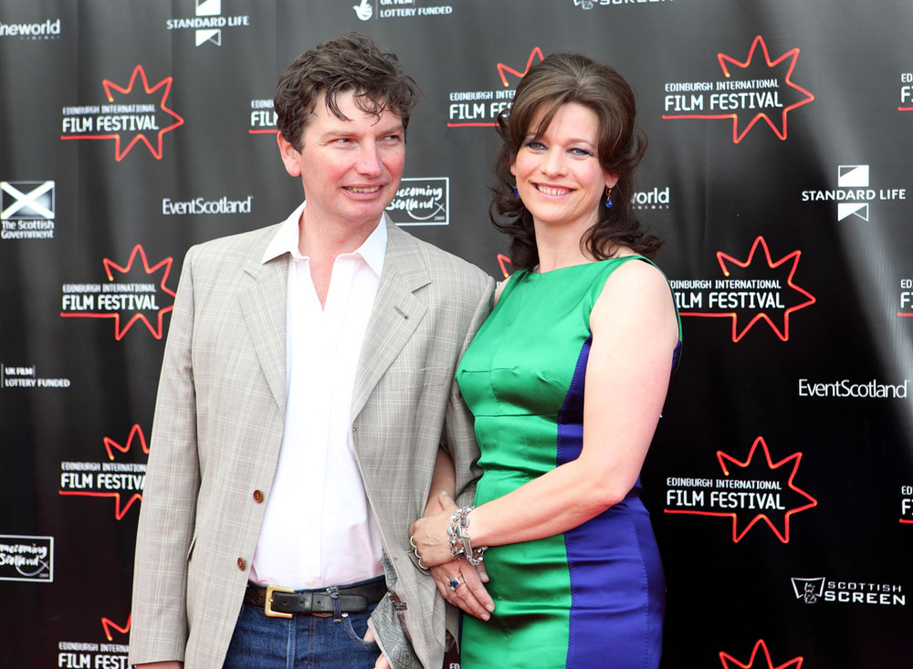 producer Andrew MacDonald and actress Kerry Fox-Shallow Grave