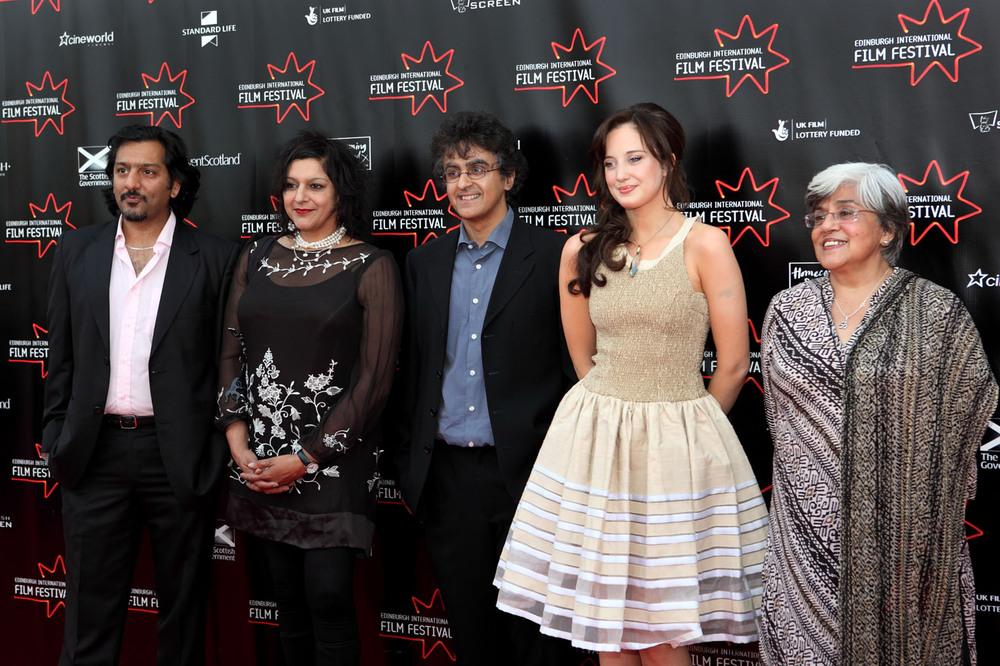 actor Nitin Ganatra, actress Meera Syal, director Avie luthra and actresses Andrea Riseborough and Leena Dhingra-Mad, Sad & Bad