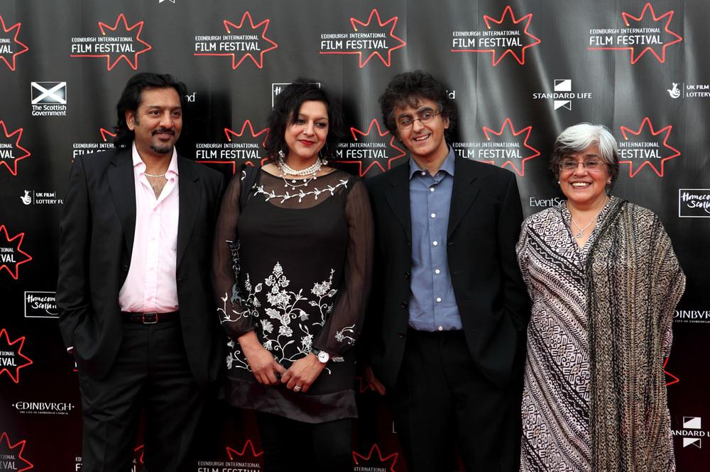 actor Nitin Ganatra, actress Meera Syal, director Avie Luthra and actress Leena Dhingra-Mad, Sad & Bad