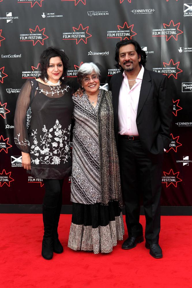 actresses Meera Syal and Leena Dhingra and actor Nitin Ganatra