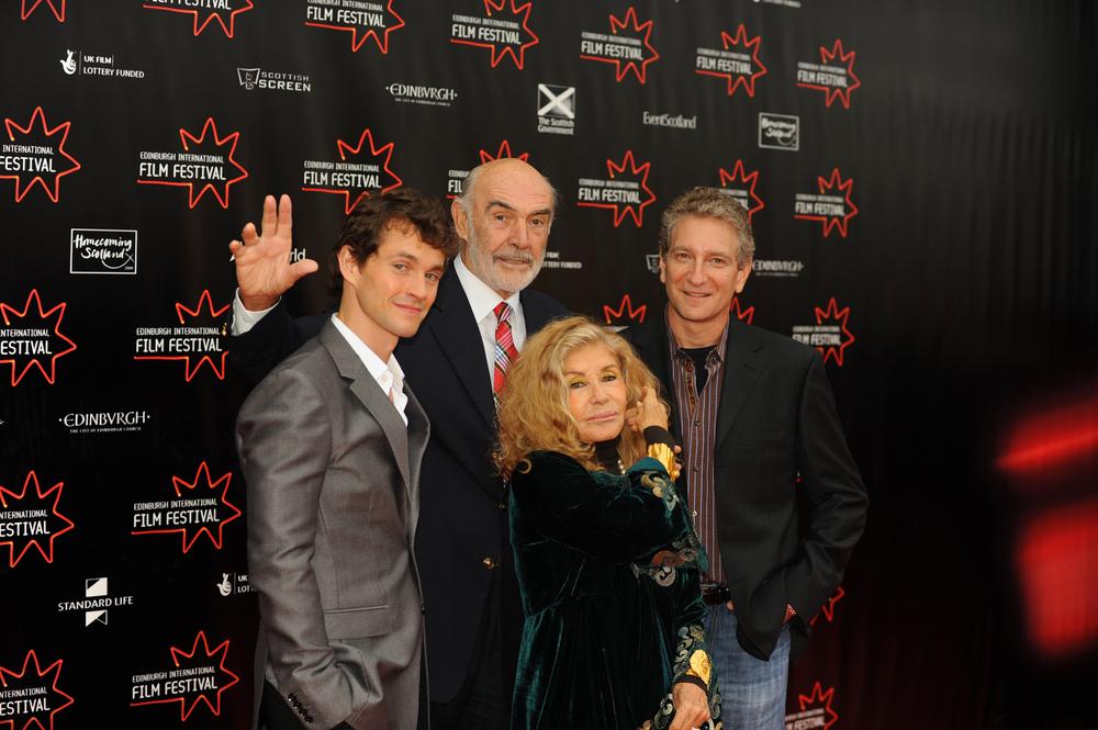 Adam - l-r Hugh Dancy, Max Mayer, Sir Sean Connery and Micheline Roquebrune