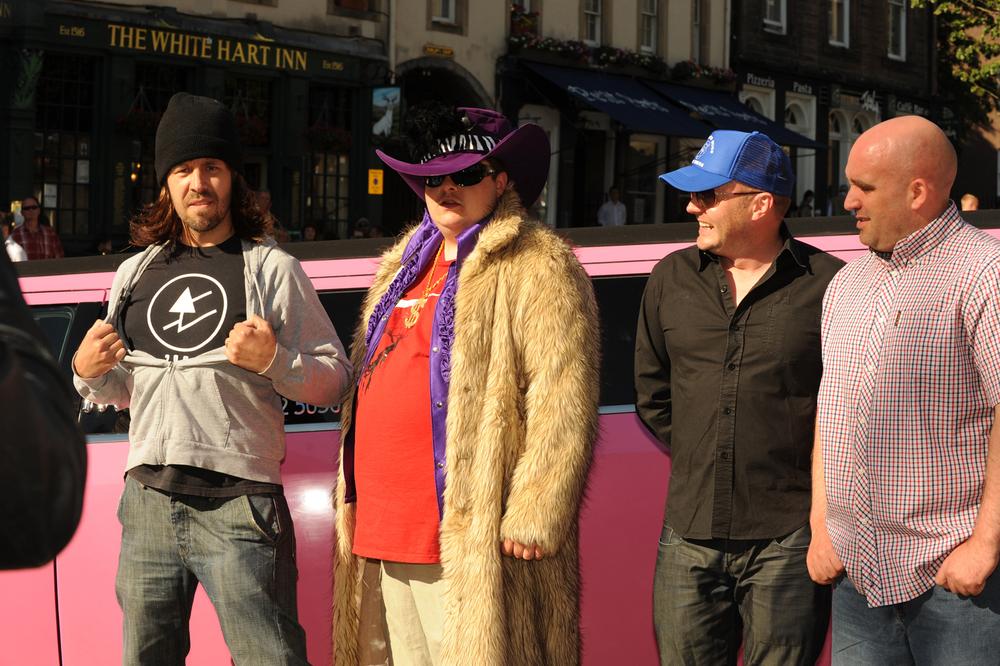Le Donk - l-r Paddy Considine, Scor-zay-zee,and director Shane Meadows(director)