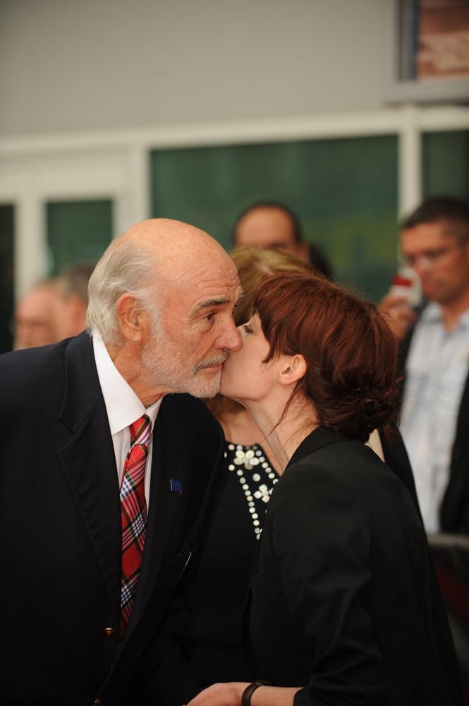 Sir Sean Connery and festival artistic director Hannah McGill