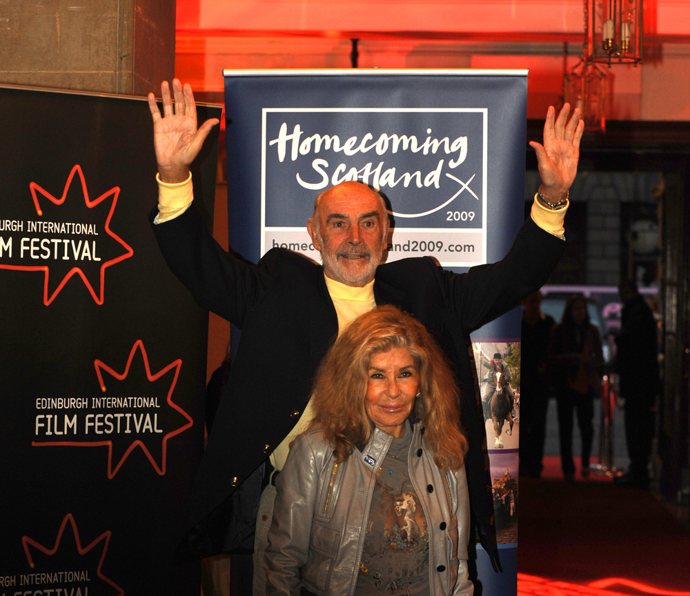 Sir Sean Connery and wife Micheline Roquebrune at the opening party