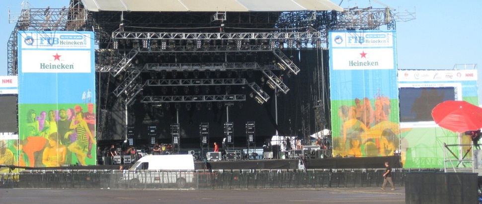 The empty main stage as Benicassim 2009 draws to an end